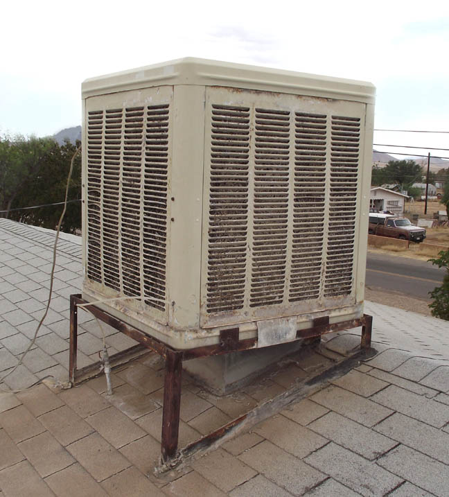 Evaporative Cooler Roof : Evaporative cooler find an outlet