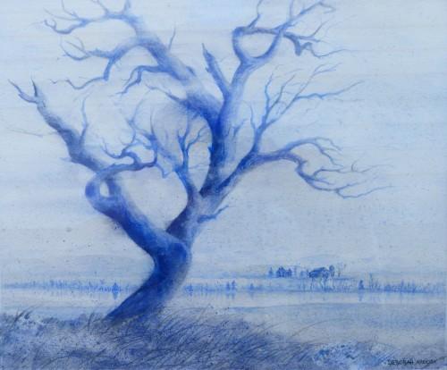 Blue  10 x 12 watercolor on paper © Debra Argosy