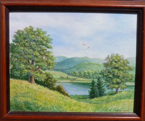 Midsummer, New Hampshire   9 x 11 (with frame) acrylic on board © Debra Argosy