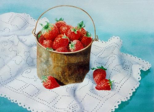 Strawberries 12 x 14 1/2  © Debra Argosy